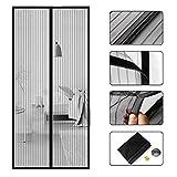 COAOC Magnet Fliegengitter TüR, Moskitonetz TüR Fenster Easy Install Geeignet für Terrassentüren Schlafzimmertüren - Black 105x235cm