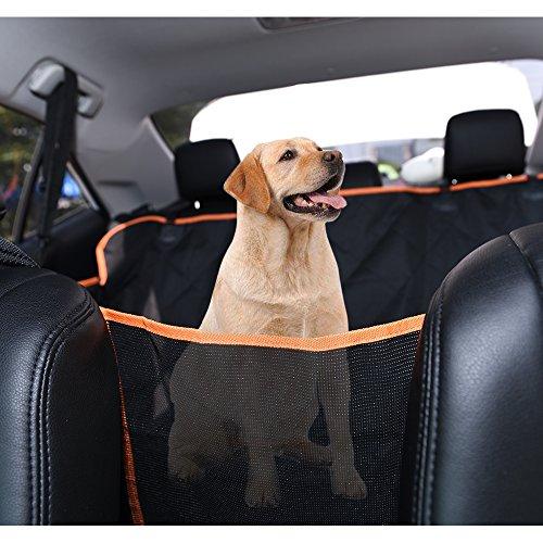 Kofferraumschutz Hund, Dadypet Universeller Auto Kofferraumschutz Ideal für deinen Hund Langlebig Anti-Kratz Anti-Rutsch Maschine waschbar Pet Sitzbezug für Rücksitz von Autos/LKW/SUV (147*135*34cm)