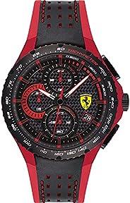 ساعة كوارتز بنظام عرض انالوج وسوار جلدي للرجال من سكودريا فيراري - 0830733