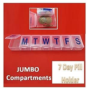 Grand 7Jour pilule boîte Support Tablette Boîte de rangement Organisateur Distributeur de vitamine
