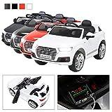 Actionbikes Motors Kinder Elektroauto Audi Q7 2017 Original Lizenz Kinderauto Kinderfahrzeug Elektro Auto Spielzeug Für Kinder (Weiß)