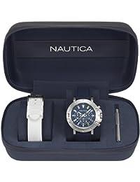 Nautica Reloj Cronógrafo de Cuarzo para Hombre con Correa de Silicona – NAPPRH007