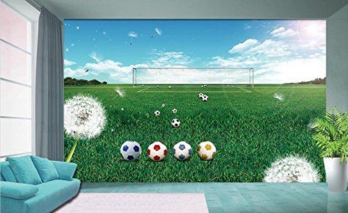 Chlwx 400cmX280cm (157.5inX110.146in) 3D-Wandbilder Tapeten Fußball Feld Foto 3D-Sticker Zimmer Sofa Tv Hintergrund Wandbild Tapeten Für Wände 3D (Fußball-feld Drucken)