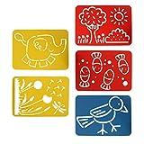 Sharplace 5 Teile/Satz Zeichenschablonen Kunststoff Zeichnung Skala Vorlage Sets für Kinder Handwerk Malerei pädagogische Werkzeug Spielzeug
