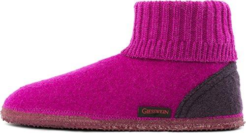 Giesswein Unisex-Erwachsene Kramsach Hohe Hausschuhe Pink (Beere)