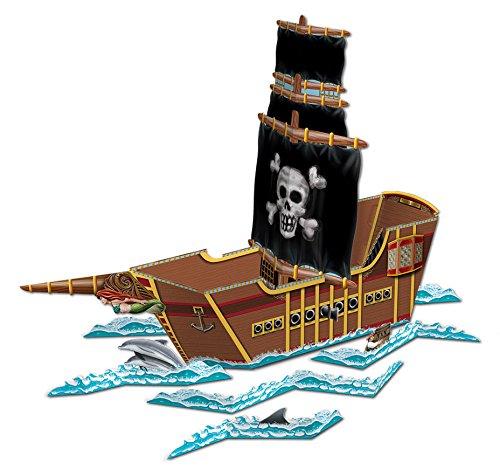 Beistle Piratenschiff Tafelaufsatz 1 Teil Pack of 1 mehrfarbig -