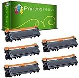 5 Compatibles Brother TN2320 Cartuchos de tóner para Brother HL-L2300D HL-L2320D HL-L2340DW HL-L2360DN HL-L2360DW HL-L2365DW HL-L2380DW DCP-L2500D DCP-L2520DW DCP-L2540DN DCP-L2560DW MFC-L2700DW MFC-L2720DW MFC-L2740DW - Negro, Alta Capacidad