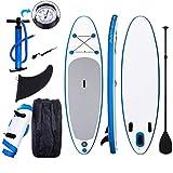 Tabla Paddle Surf Hinchable para Principiantes con Bomba de Acción Doble, Funda Plegable, Mochila, Kit de Reparación (Type6_305*76 * 15cm)