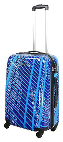 ABS Koffer Flughafen Ankunft Abflug Tafel Größe M Farbe Blau ABS Hartschale Reisekoffer Trolley Case Fa. Bowatex (Blaue Tafel)
