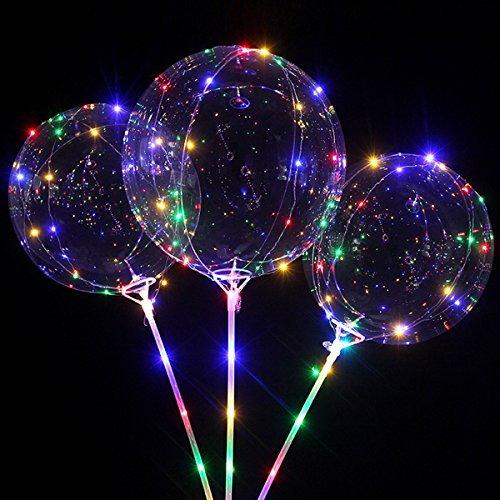 iiniim Party Bubble Balloon  Glow In The Dark LED BoBo Balloon Flashing Colorful Light For Wedding Birthday Party Decoration