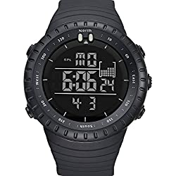ALPS Men's Boy's Military Shock Resistant LED Digital Multifunctional Sport Watch 30M Waterproof Casual Fashion Luxury Wrist Watch(Black)