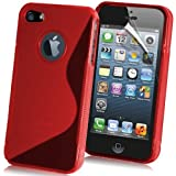NWNK13� Apple iPhone 6 (4.7) Premium Soft Rubber Gel Jelly Case Cover Screen Protector & Polishing Cloth (Red)