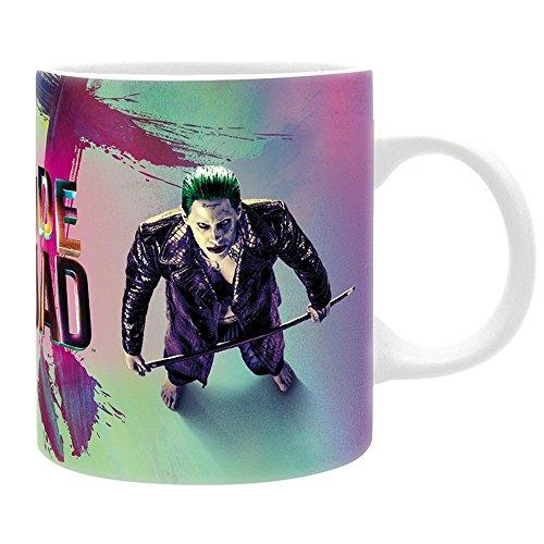 Squad - Keramik Tasse - Harley Quinn & Joker - Logo - Geschenkbox (Superman Weißen Kostümen)