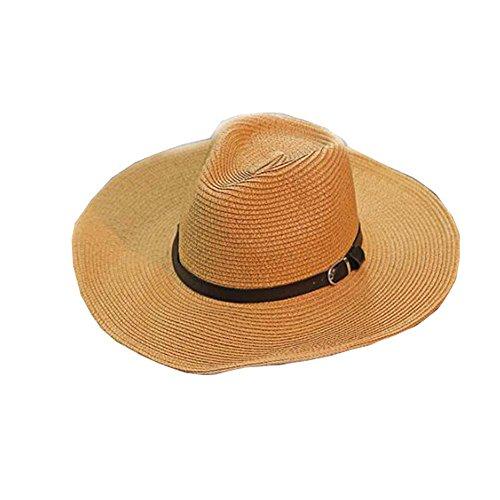 (Black Temptation Herren Hüte Strandhut Strohhut Faltbarer Cowboy Breathable Hat)
