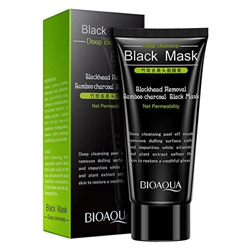 #Weisy 60g Blackheads Removal Maske Professionelle Hautpflege Schrumpfen Poren Naturliche Bambus Holzkohle Schwarz Kopf Pore Reinigen Peel Off Maske#