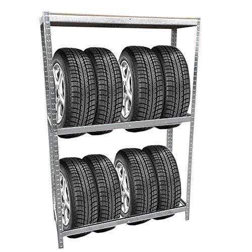 Grafner Reifenregal mit Kantenschutz Lagerregal Schwerlastregal Reifen Regal Aufbewahrung Felgenregal