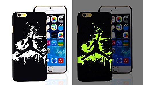 RONNEY'S Air Jordan Luminous PC BLACK Hard Case for Apple Iphone 6+/6+S DESIGN 7 Design 9
