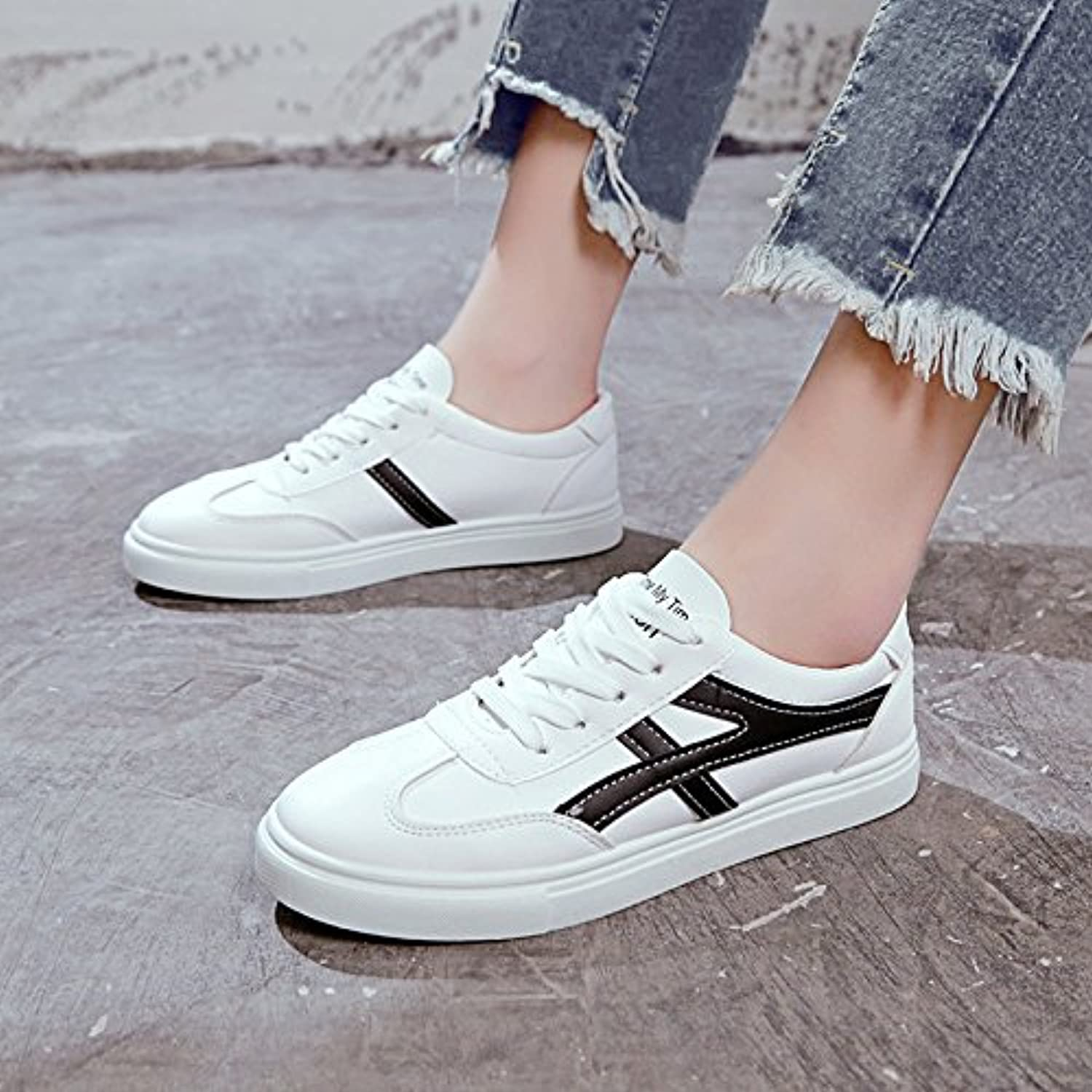 6a7d5779665 GAOLIM GAOLIM GAOLIM The Small White Shoes The Girl Spring Wild Casual Flat  Bottom White Shoes Student Board Shoes B07CC4TT7C Parent 9d01ff