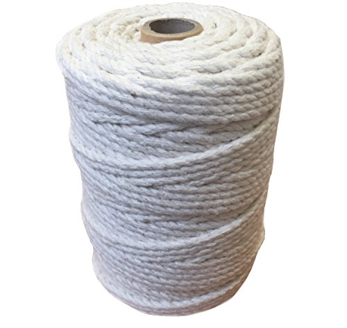 d600f07b3973 Cuerda de macramé 100 % de algodón natural, carrete de 1 kg, para envolver  muebles, tender ropa, macetas colgantes, tapices de pared