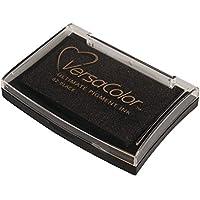 Rayher Hobby 29017576 Tsukineko Versa Color Pigment-Stempelkissen, schwarz, 9,6 x 6,3 x 1,8 cm, Tinte auf Wasserbasis