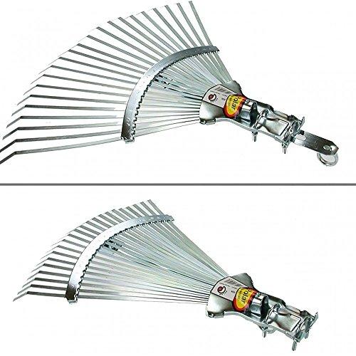 Polar 2526 Profi-Laubbesen Fächerbesen 30-47 cm breit Rasenrechen Federbandstahl