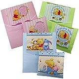 4-tlg.Baby Bettwäsche Winnie Pooh Decke Kissen für Kinderwagen Stubenwagen Wiege Garnitur - Rosa