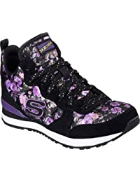 Skechers Girls 'Retrospectiva Hollywood Rose High Top, Negro / P�rpura