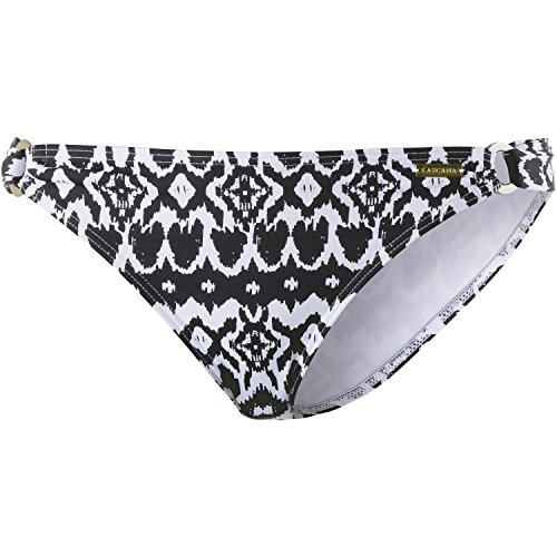 Damen Bikinihose schwarz/weiß Ethno