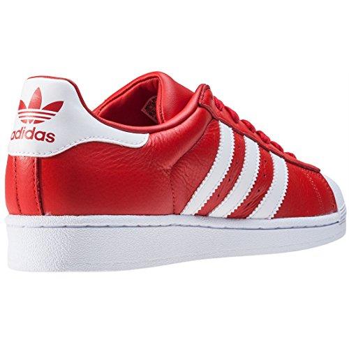 adidas Originals Unisex-Erwachsene Superstar Weave Sneakers red-footwear white-red (BB2240)