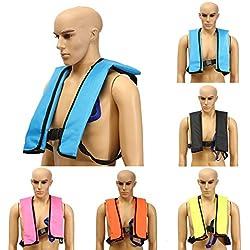 Rettungsweste,CAMTOA Erwachsene schwimmweste/Rettungsweste sicherheit life jacket für schwimmen surf Bootfahren Angeln Driften Schwarz