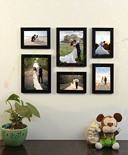 Painting Mantra Art Street Decorous Wood Wall Photo Frame (Black,Set of 6...