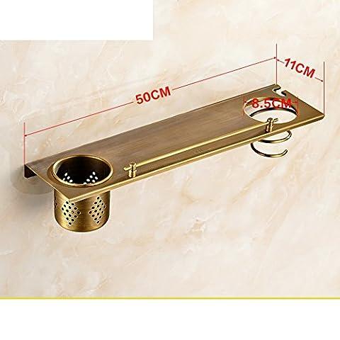 Antique copper Shower full frame/Bathroom Shelves/Bathroom Shelves/Cosmetics shelf/Toothbrush