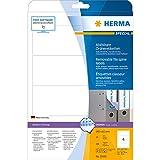 Herma 10165 Ordnerrücken-Etiketten (ablösbar Papier matt, 192 x 61 mm) 100 Stück weiß