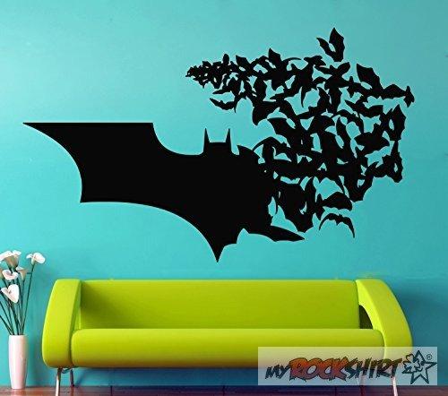 Batman Wandtattoo 100 cm Aufkleber für Auto,Scheibe, Lack,Wand,Wandtattoo aus Hochleistungsfolie für alle glatten Flächen von myrockshirt® Autoaufkleber Tuning Decal Sticker