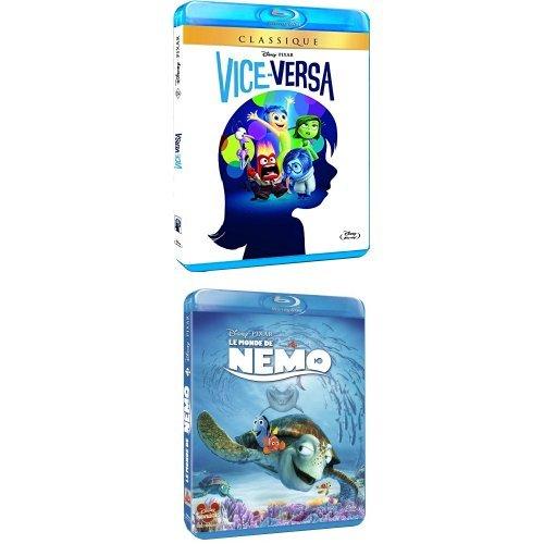Pack 2 Blu-ray : Vice-Versa + Le Monde de Nemo