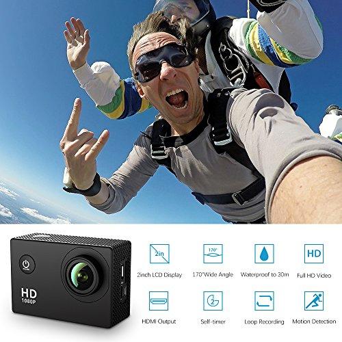 , VicTsing 2,0 Zoll HD 1080P Helmkamera - 2