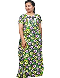 AISNIGHA Womens a deep 5082 multi Print Cotton Nighty | Womens Soft and Comfortable Nightgown for Straight-Fit | Ladies Nighty Set | High-Quality Nightwear for Everyday Use – Large | XL | XXL | stylish piece of ladies nighty that is ultra-soft and durable | Made from best quality materials | comes under best price
