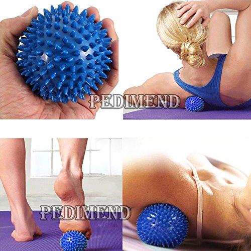 pedimendtm Spiky Massage Ball für Fuß Schmerzlinderung | Best für Plantarfasziitis | Deep Tissue Trigger Point Massagegerät | Stachelschwein & Lacrosse Stress Ball | selbst Massagegerät Ball, reduziert Stress