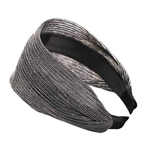 LOPILY 2019 Neu Mode Solid Silk Einfache Hairband Frauen Hair Head Hoop Mädchen Hair Stirnband Schnell verkaufend