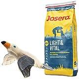 Josera 15 kg Light & Vital + Hundespielzeug Möwe von Hunter