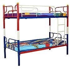 HomeTown Neno Metal Bunk Bed (Matt Finish, Cream)
