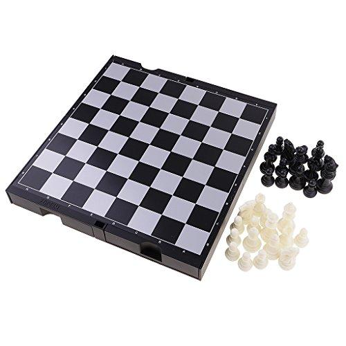 MagiDeal 2 in 1 Spielset : Traditionelles Chinesisches Schachspiel U. Internationales Schach, Tragbar für unterwegs