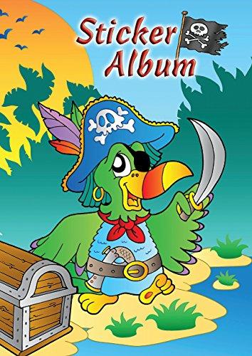 9 Kinder Sticker Sammelalbum Pirat (silikonisiertes blanko Papier) 1 Album (Sticker Album)