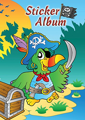 AVERY Zweckform 57799 Kinder Sticker Sammelalbum Pirat (silikonisiertes blanko Papier) 1 Album
