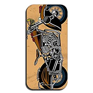 Mozine Bikers Life Full Printed Mobile Back Cover For HTC One M8