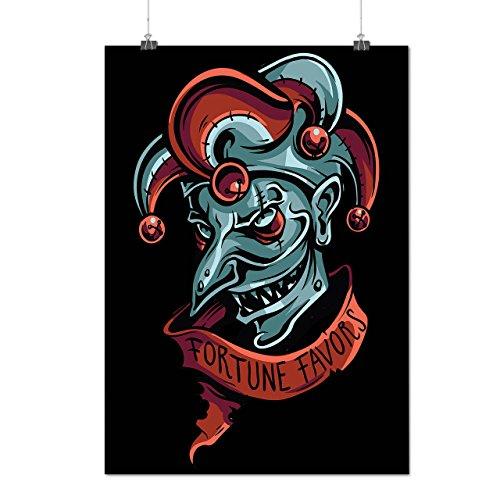 Vermögen Joker Mode Clown Angst Mattes/Glänzende Plakat A3 (42cm x 30cm) | (Clown Korsett)