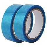 sourcing map 2 Pz Facile-Chiaro a facciata singola pellicola di PET nastro blu trasparente lunga 50M 30mm di larghezza