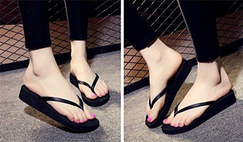 Flyrcx Été Pu Fond Épais Flip Flop Dames Haute Couture Plage Cool Mop G