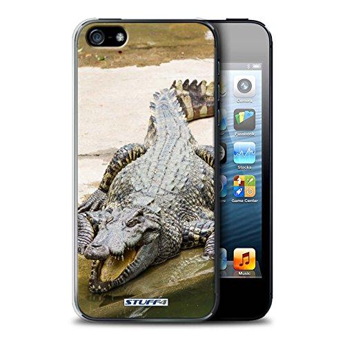 Stuff4 Hülle / Case für Apple iPhone SE / Faultier Muster / Wilde Tiere Kollektion Krokkodil/Alligator