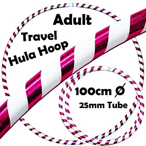 PRO Hula Hoops (Ultra-Grip / Glitter Deco) Gewichtetes TRAVEL Hula Hoop (100cm / 39 ') Hula Hoops Für Übung, Tanz & Fitness! (640g) KEINE Anleitung gebraucht - gleicher Tag Versand! - Glitter Hula-hoop